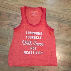 Tacos Not Negativity Tank Top